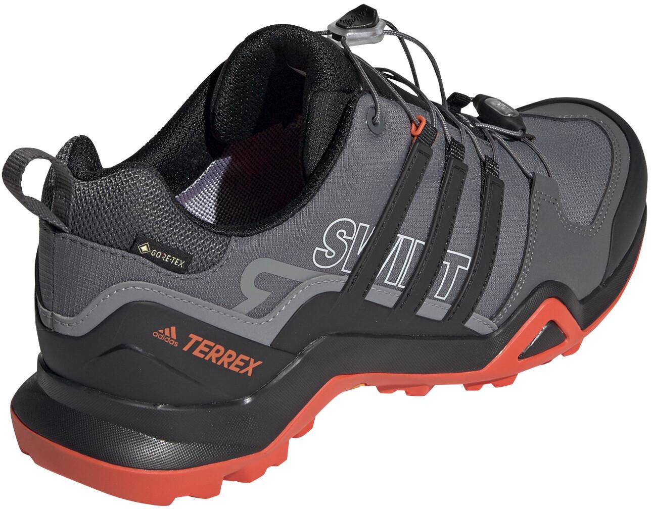 adidas TERREX Swift R2 Gore Tex Wandelschoenen Waterbestendig Heren, grey fivecore blackactive orange